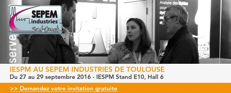 IESPM au salon SEPEM Industries de Toulouse