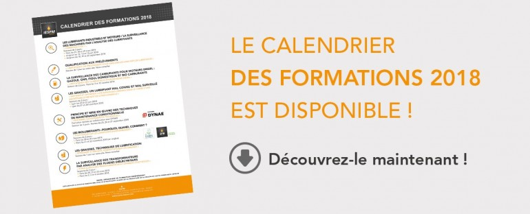 Calendrier des formations 2018