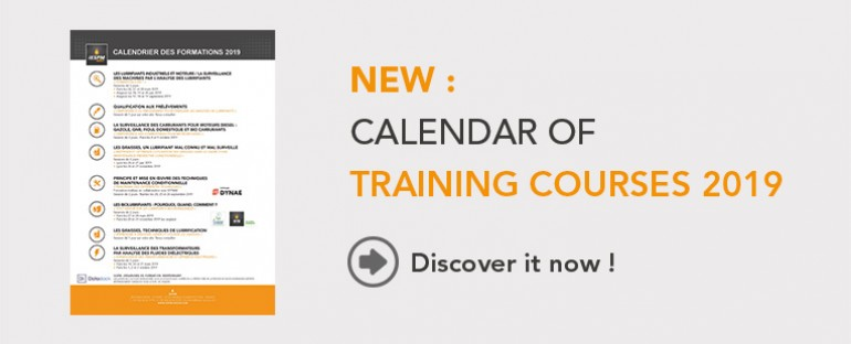 Calendar 2019 of Training courses