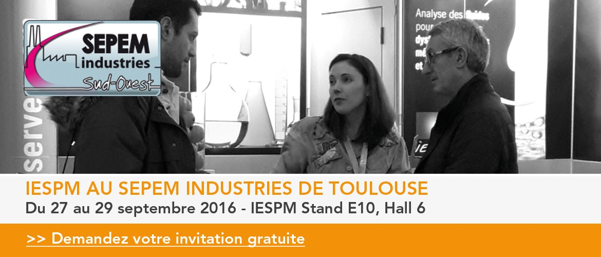 Iespm au salon sepem industries de toulouse for Salon sepem